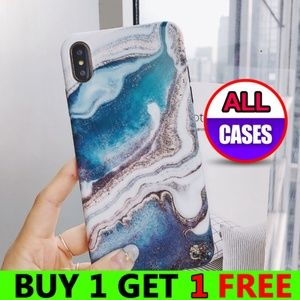 Accessories - NEW iPhone Max/XR/XS/X/7/8/Plus Blue Marble Case